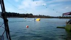 Wasserski-Seilbahn am Dankern See--- Waterskiing (Haren/Germany)