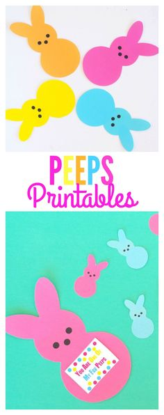Such cuteness! These Peeps Printables are so cute and perfect fun for our Easter