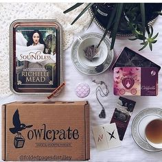 Each month, OwlCrate sends out a box with a new young adult novel and 3–5 other gifts like tea, bookmarks, temporary tattoos, and jewelry.  Price: Starting at $30/month