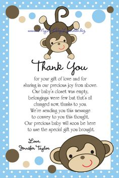 thank you note baby gift engne euforic co
