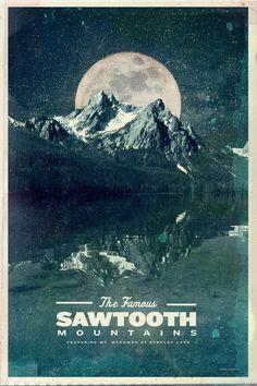 Sawtooth: Stanley Lake by Conrad Garner, via Behance