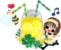 春のフリーのイラスト素材可愛い女の子とクローバーのドリンク  Free Illustration of spring A cute girl and a drink of clover   http://ift.tt/2nt9aXi