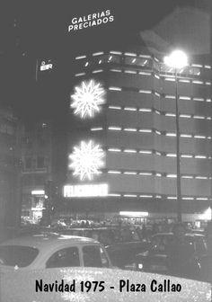 Plaza de Callao. Madrid, Navidad 1975