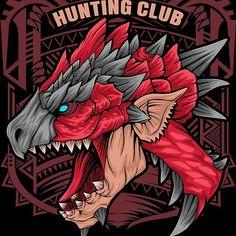 'Hunting Club Rathalos' by Dan Dee Monster Hunter Rathalos, Framed Prints, Canvas Prints, Art Prints, Monster Hunter Art, Grafiti, Hunt Club, Art Reference, Spiderman
