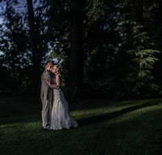 ultra romantic bride and groom on their wedding day holding each other in the trees portrait by Matt Shumate Photography at the Evergreen Gardens in Ferndale WA Wedding Shoot, Wedding Day, Evergreen Garden, Garden Weddings, In The Tree, Wedding Portraits, Groom, Trees, Gardens