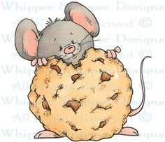 Chocolate Chip - Mice - Animals - Rubber Stamps - Shop