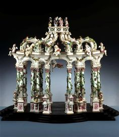 A Dresden porcelain table sculpture, Germany, circa 1750