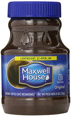 Maxwell House Original Blend Instant Coffee, Medium Roast, 8 Ounce Jar (Pack of Coffee Pods, Coffee Cafe, Hot Coffee, Coffee Beans, New Electronic Gadgets, K Cups, Instant Coffee, Blended Coffee, Gourmet Recipes