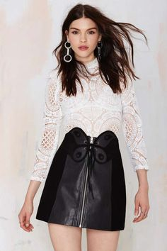 Nasty Gal So Fly Leather Skirt | Shop Clothes at Nasty Gal!