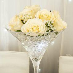 Home Decor made easy! Just add #Flowers!  #Roses #Crystal #Decorating #HomeDecorating #Design #InteriorDesign #DIY #HomeDecor