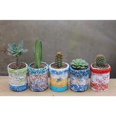 #cactus #handmade #upcycling #suculentas #crochet