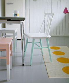 Patas pintadas para sillas de cocina