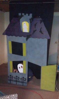 The Halloween haunted house I made for kids photos at our community day.