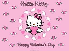 hello kitty valentine background