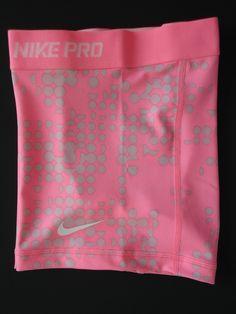 New RARE M Nike Pro Core Polar Pink Print Women's Compresion Shorts Medium | eBay
