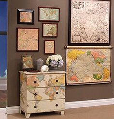 love this map dresser