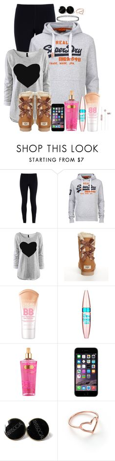 """Solstice festival"" by huntress-383 ❤ liked on Polyvore featuring NIKE, Superdry, UGG Australia, Maybelline, Victoria's Secret and Jordan Askill"