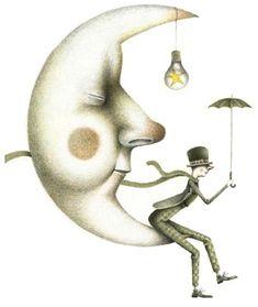 enlaluna Moon Images, Moon Pictures, Sun Moon Stars, Sun And Stars, Good Night Moon, Night Night, Luna Moon, Moon Illustration, Moon Face