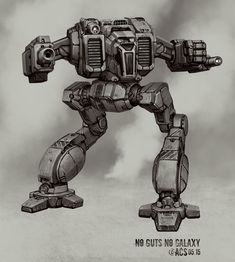 """cyberclays:  Battletech - Shadowcat - by Shimmering-Sword (Anthony Scroggins)""""This piece was done for No Guts No Galaxy and should be available as a shirt in their store soon""""More Mechwarrior related content on my tumblr [here]"""
