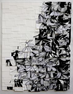 this is an artwork (paper) by Raymond Saa but isn't it an interesting idea for a quilt?!