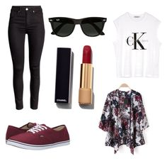 """Untitled #17"" by nika-gulic on Polyvore featuring Ray-Ban, Calvin Klein, Vans, Chanel, women's clothing, women, female, woman, misses and juniors"