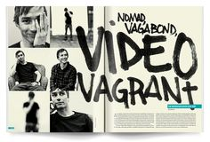 This design is pretty unique. I love that they continued the title onto two pages and that they used the marker looking font for it, it gives the article a very personal and laid back feeling to it. I also like the way that they have the 6 different photographs lined up the way that they did.