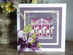 Days Out Collection designed by Stephanie Weightman, Tattered Lace Homemade Christmas Cards, Handmade Christmas, Kids Cards, Baby Cards, Aliexpress Dies Cards, Kanban Cards, Horse Cards, Tattered Lace Cards, Die Cut Cards