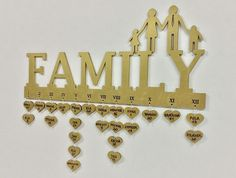 Family Birthday Calendar Plaque Sign CNC Cut File by projectCNC