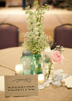 12 Wedding Centerpiece Ideas from Pinterest | HansonEllis.com Wedding Blog - Unique Favors and Personalized Gifts