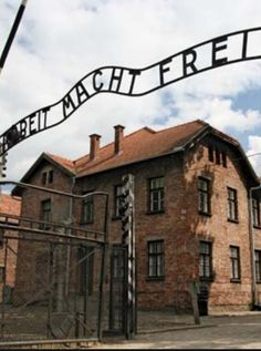 AUSCHWITZ CONCENTRATION CAMP, Poland: was a network of Nazi slave labor & mass murder sites operated by the Third Reich in Polish areas annexed during World War II. Auschwitz I was first constructed to hold Polish political prisoners, who began to arrive in May 1940. The first mass murder of prisoners took place in September 1941.