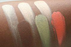 Make-up Studio Concealer Box swatch op een donkere huid