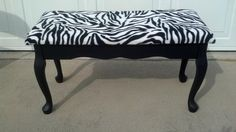 Just bought a similar Zebra Bench for my pink/zebra room. Love it!