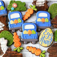Truck with eggs for Easter .... how cute is that