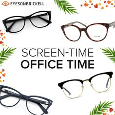When we're in the office, we spend most of our waking hours gazing at our computer screen. This prolonged exposure to digital devices may cause eye strain or watery eyes. Don't delay wearing #Computer #glasses if you're someone who spends more than 4 hrs on laptops & computers every day. #drcopty #besteyecareinbrickell #miamieyedoctors #glasses #eyesonbrickell