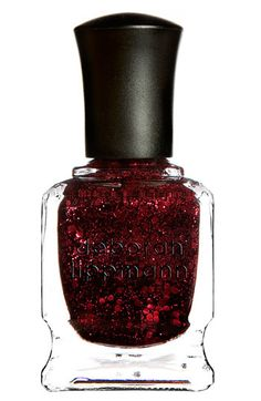 Deborah Lippmann Glitter finger nail polish...in Ruby Red Slippers. **sigh** One of my favorites, looks awesome on but hard to get off!