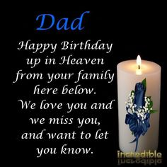 ❤️ HAPPY BIRTHDAY IN HEAVEN DAD