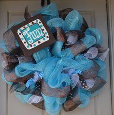 New Baby Boy Hospital Wreath