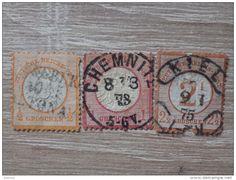 Mini Deutsches Reich Marken Lot - Groschen - weißer Adler Symbol