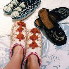 Handmade Tri Tassel Slippers #Anthropologie #MyAnthroPhoto