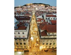 Three Perfect Days: Lisbon | by Chris Wright, for United Hemispheres Magazine @hemispheresmag May 2012, @United Airlines' Inflight Magazine Photo: Lisbon as seen from atop the Elevador de Santa Justa, by Pedro Guimaraes #Portugal