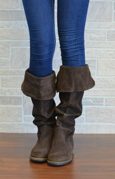 Slouchy Suede Brown Boot.