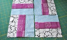 Rail fence quilt block tutorial Sew a Simple Rail Fence Quilt Block With Pre-Cuts By Lindsay Conner The rail fence quilt block is a great traditional quilt block for beginners, but everyone can appreciate its versatility and dynamic design. Patchwork Quilt Patterns, Beginner Quilt Patterns, Quilting For Beginners, Quilting Tutorials, Quilting Projects, Quilting Patterns, Skirt Patterns, Quilting Tips, Blouse Patterns