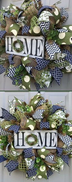 In love with this Gorgeous Rustic Home Wreath!