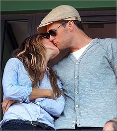 Tom Brady and Gisele Bundchen at the Red Sox game