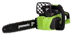 """GreenWorks DigiPro Brushless 40V G-MAX 16"""" Chainsaw.  Tool Only Model 20322.  4 AH Model:  20312.  Available only at amazon.com."""