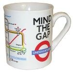 """""""Mind the Gap"""" London tube mug"""