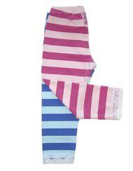 Capri Leggings Pink And Blue Striped   Crazy Crayon
