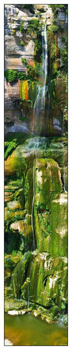 Sallent waterfalls in Rupit, (Barcelona) Spain