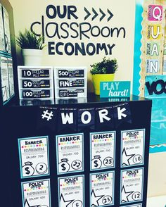 Tomorrow we are going to apply for new classroom jobs.Classroom economy is hands down my favorite behavior management tool. Classroom Economy System, Classroom Rewards, 5th Grade Classroom, Classroom Jobs, Classroom Organization, Kindergarten Class, Classroom Design, Future Classroom, Behavior Management