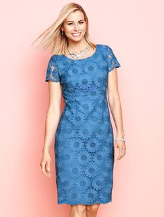 """Talbots - Sunflower Lace Sheath 